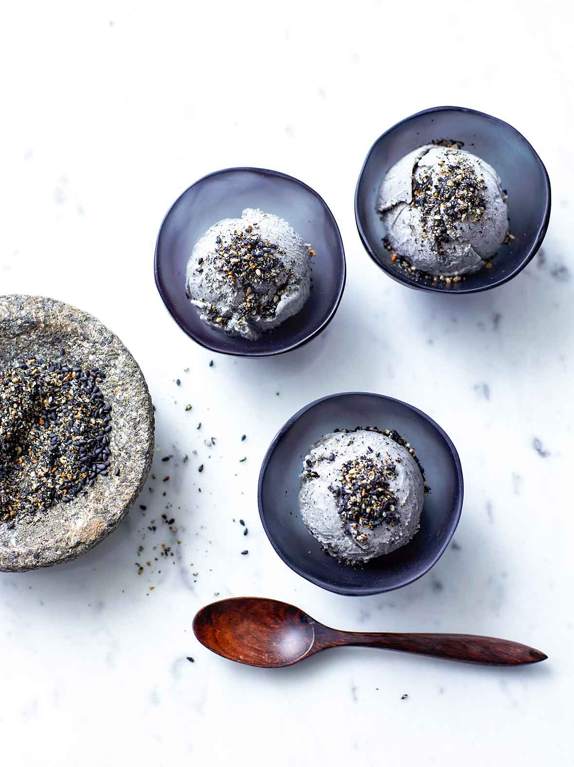 Black Sesame Ice Cream