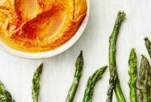 Roasted Asparagus with Romesco Sauce