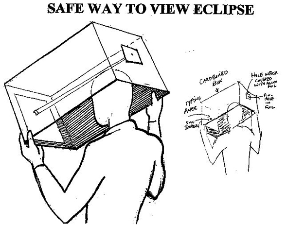 Cardboard Box Eclipse Viewer