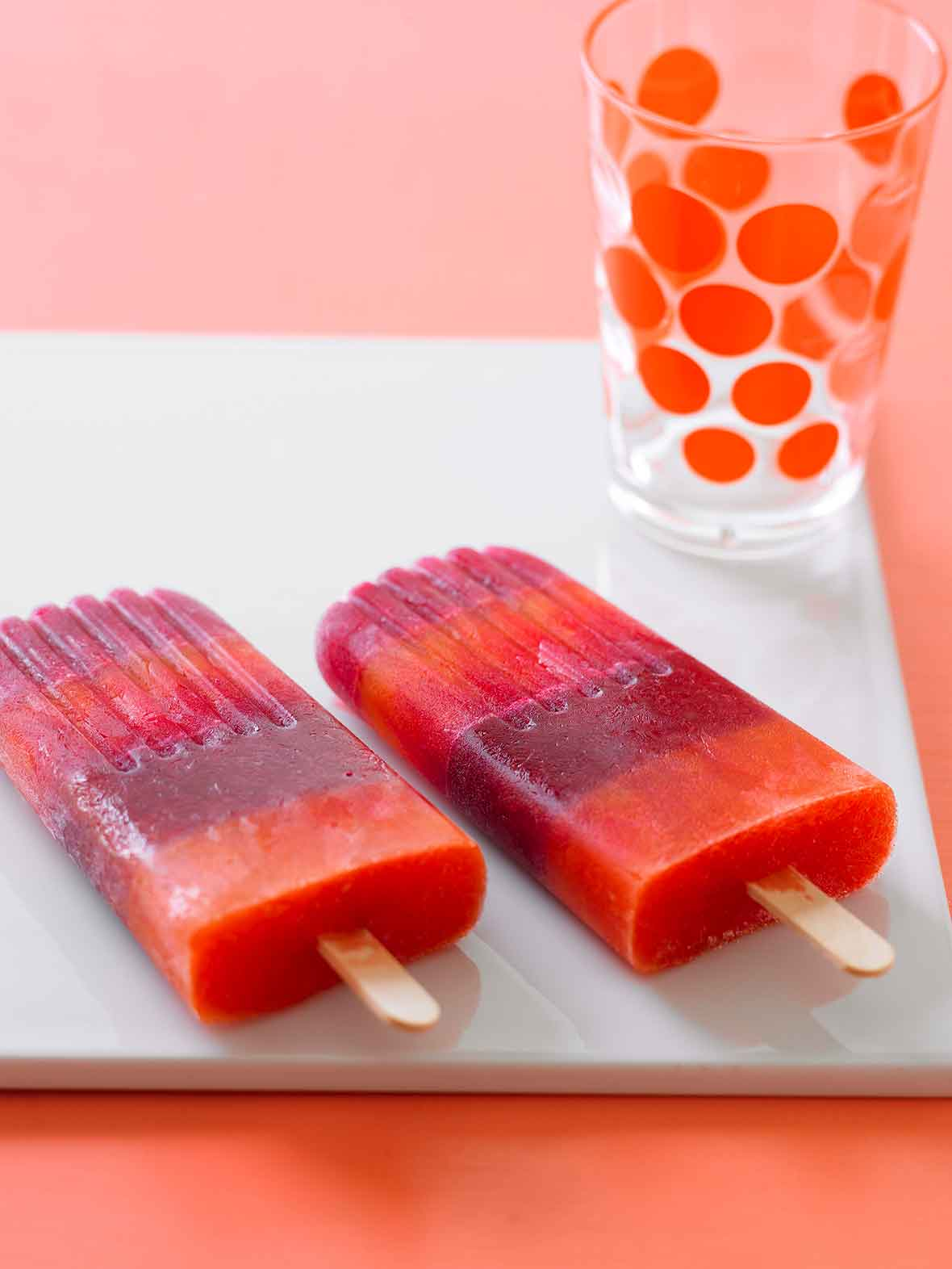 Striped Juice Pops Recipe