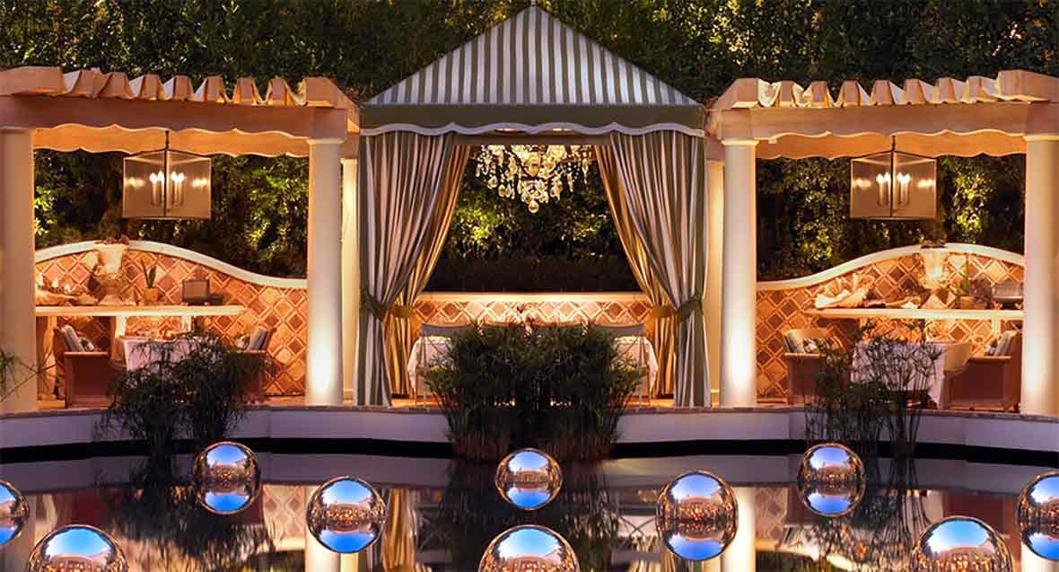 Pool and Dining at Bartolotta, Las Vegas