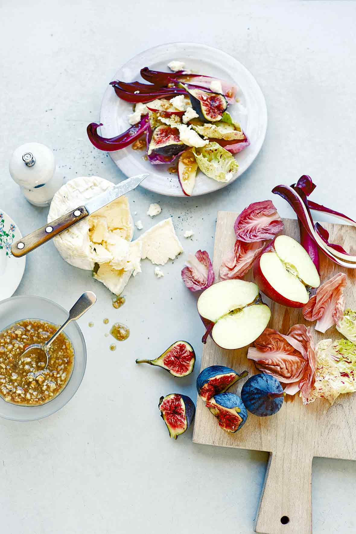 Radicchio, Fig, Apple Salad Recipe