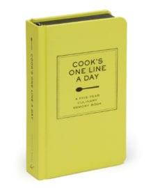 Cook's One Line A Day Book