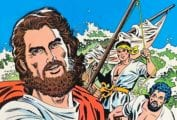 A comic book cover with Jesus pointing at the reader and fisherman in the background. title: The Jesus Rule