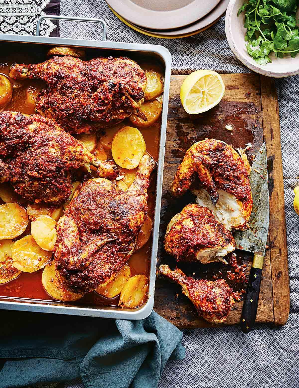 Harissa Roast Chicken Recipe Leite S Culinaria,Black White And Brown Living Room Ideas