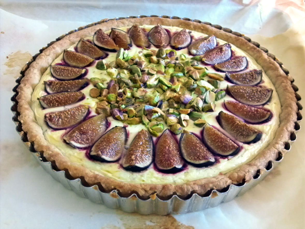 Fig-Goat Cheese Tart with Pistachios