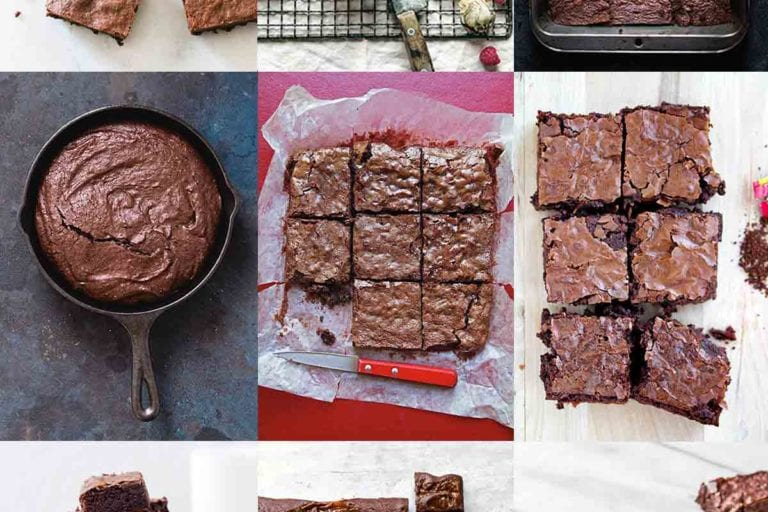 A collage of all of the best brownies from Leite's Culinaria.