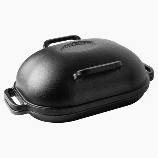 A Challenger bread pan with lid.