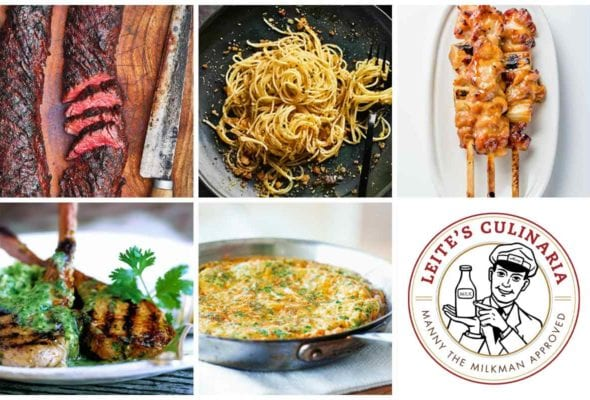 A grid of 5 recipes images and a Manny the Milkman logo for the weeknight winners slideshow.