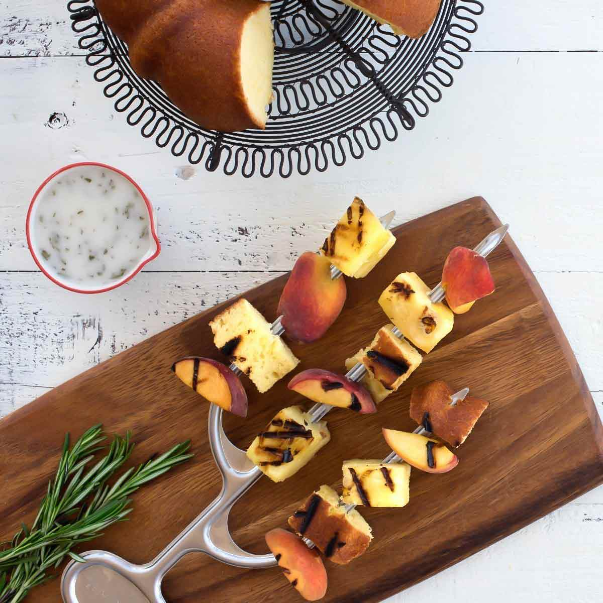 Nordic Ware Cactus Kebob with Pineapple and Peaches