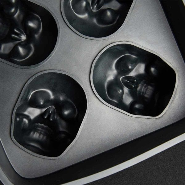 3D Silicon Skull Ice Cube Mold Tray Detail