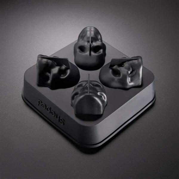 3D Silicon Skull Ice Cube Mold Tray in Tray
