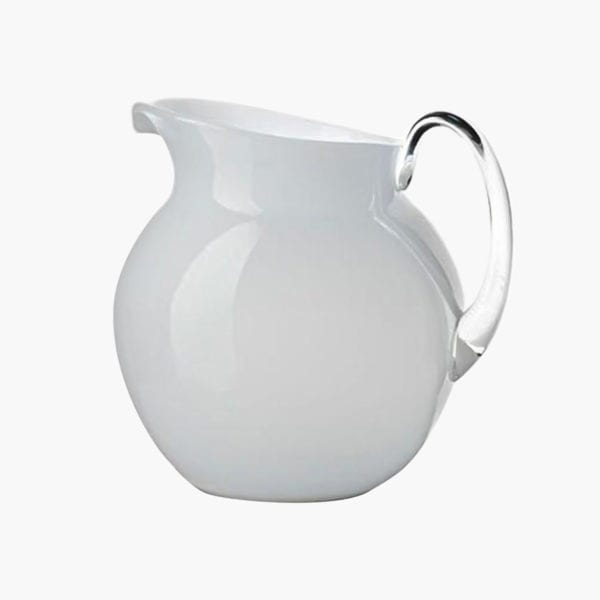 White Acrylic Palla Pitcher
