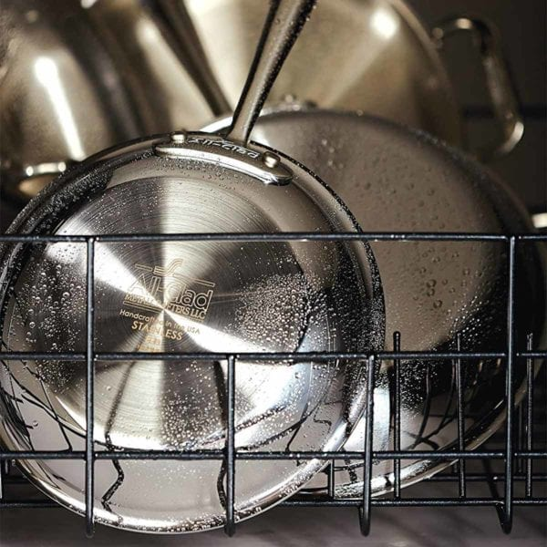 All-Clad D3 Stainless Cookware Set in the dishwasher