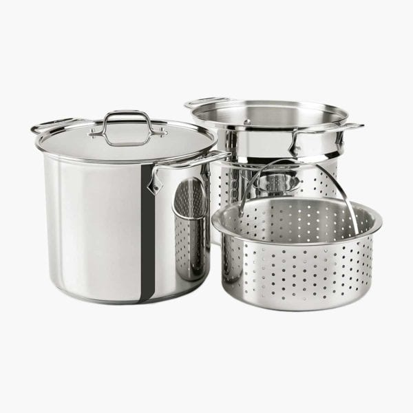 All-Clad Stainless Steel Multicooker with Inserts.