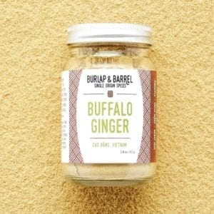 Buffalo Ginger in a glass jar