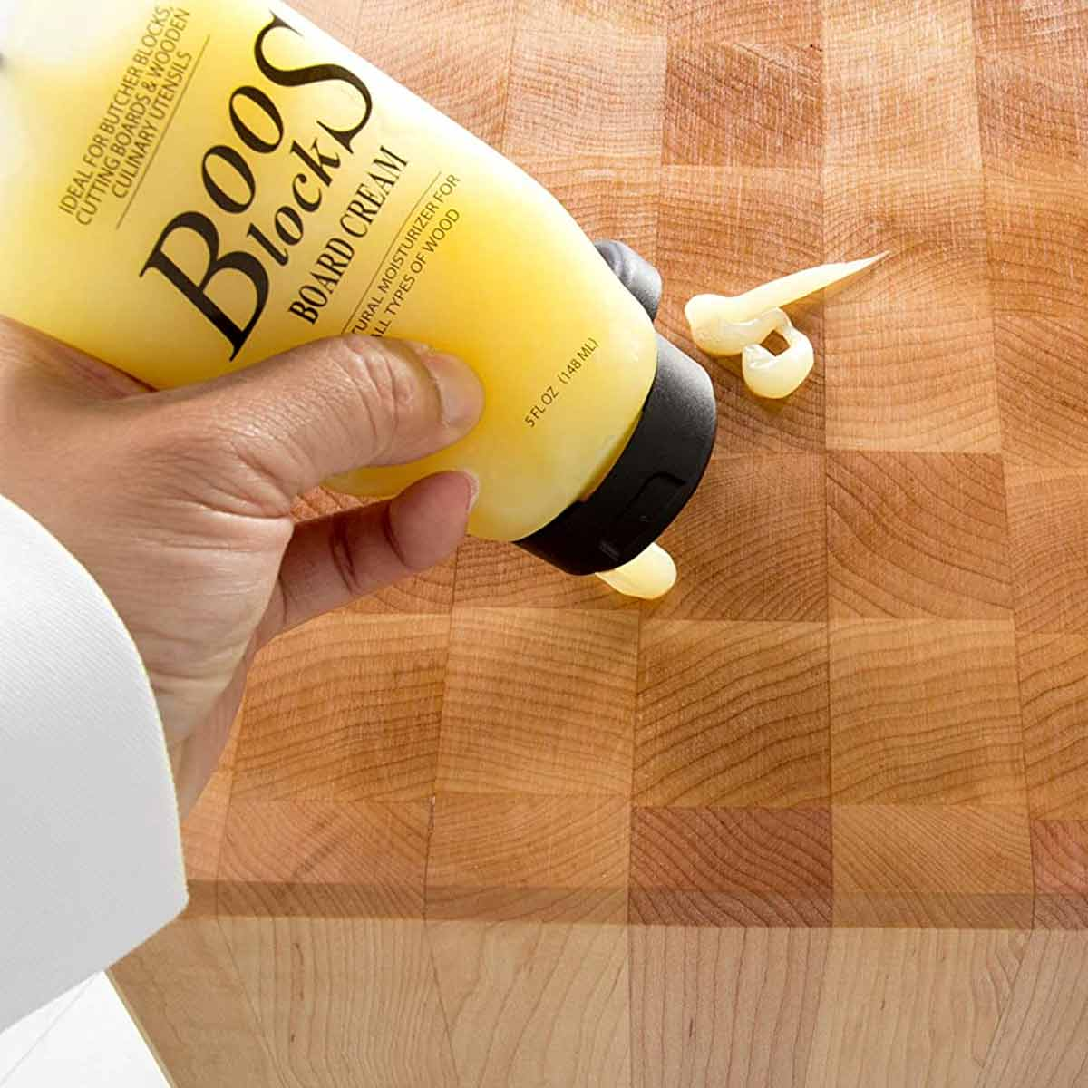 Butcher Block Board Cream Squirt