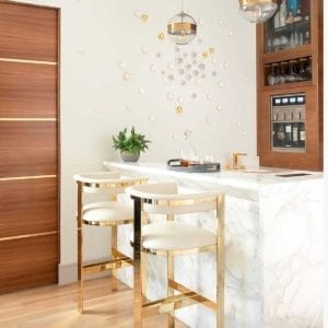 Darcy Bar Stool in Cream at Counter