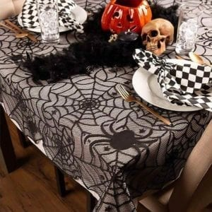 Halloween Lace Table Cloth with Pumpkins