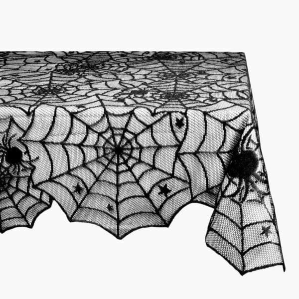 Halloween Lace Table Cloth Corner