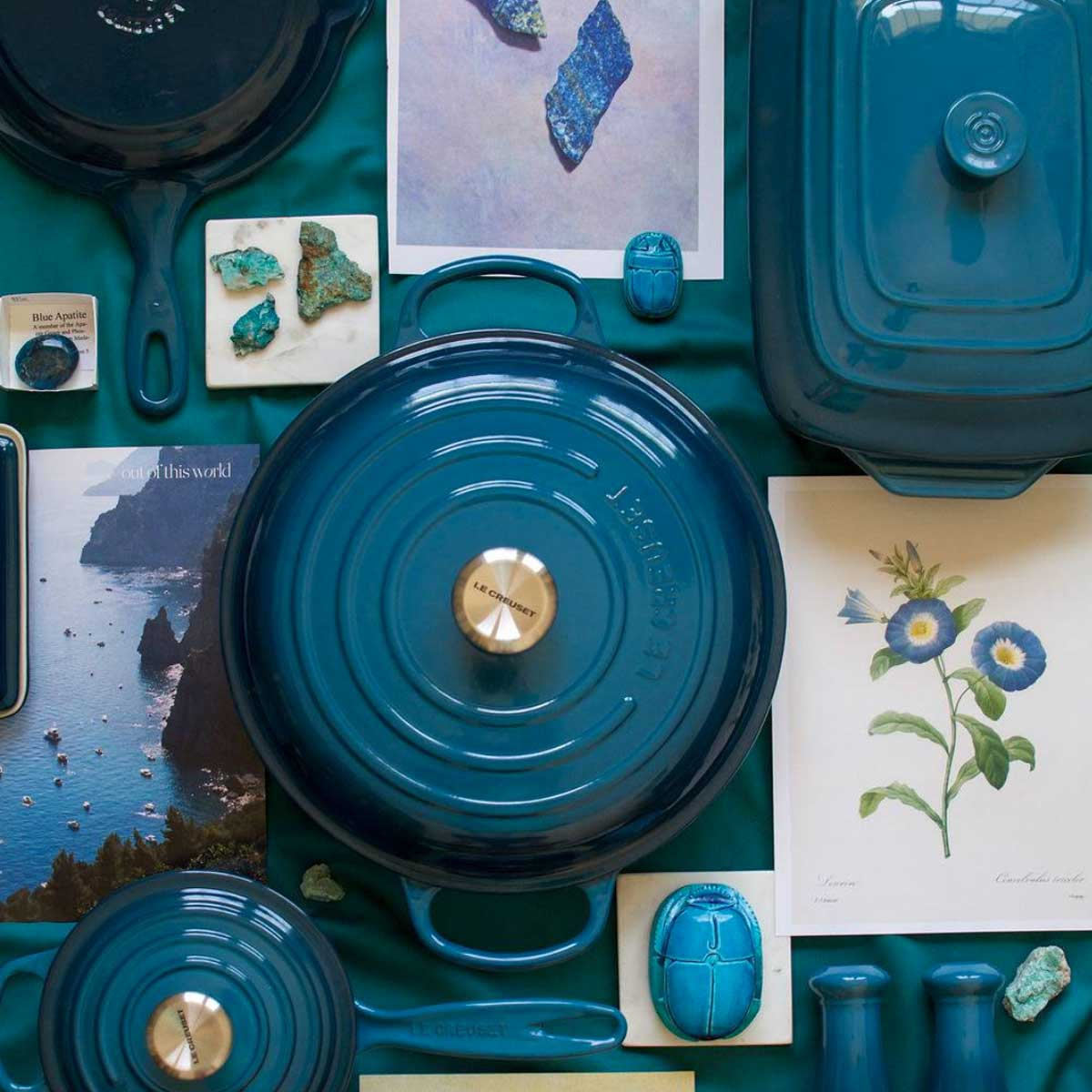 Le Creuset 5-Piece Signature Set photo shot from above.