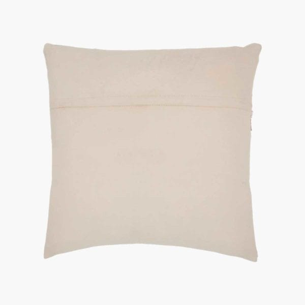 Natural Leather Hide Throw Pillow photo of back.