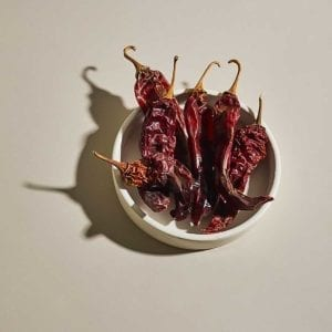New Mexican Hot Chiles in Bowl