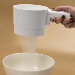 A White Norpro Battery Operate Sifter Sifting Flour