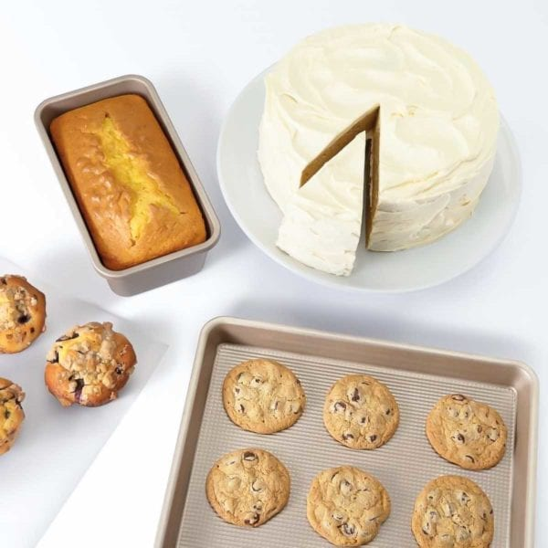 OXO Good Grips Non-Stick Baking Set with Baked Goods