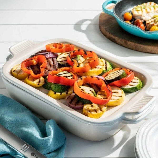 Rectangular Dish with Platterwith Grilled Vegetables