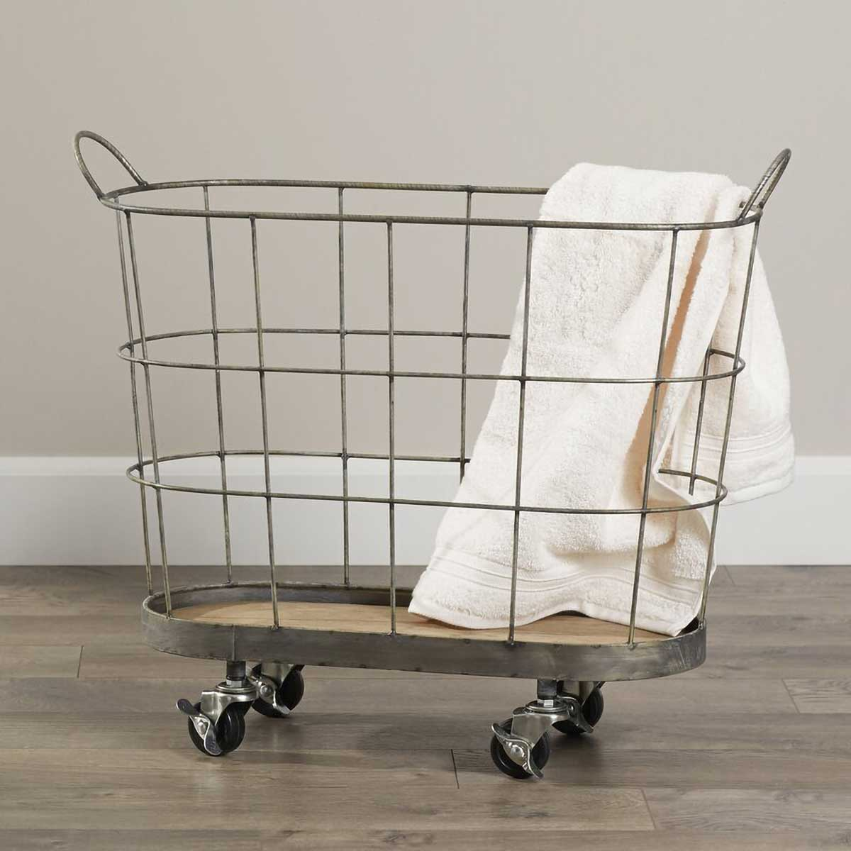 Rolling Laundry Basket.