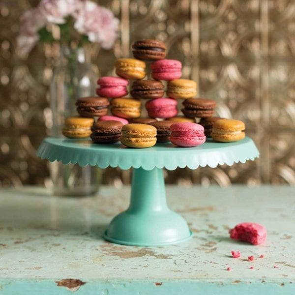 Tin Cake Stand with Macaroons