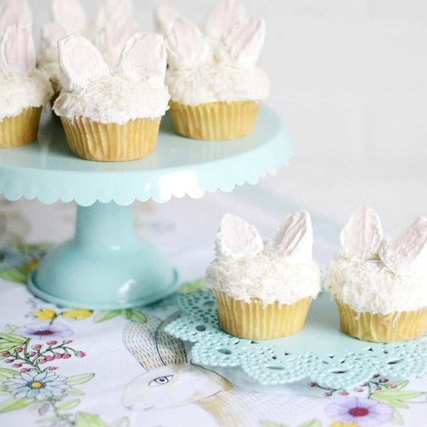 Tin Cake Stand with Bunny Cakes
