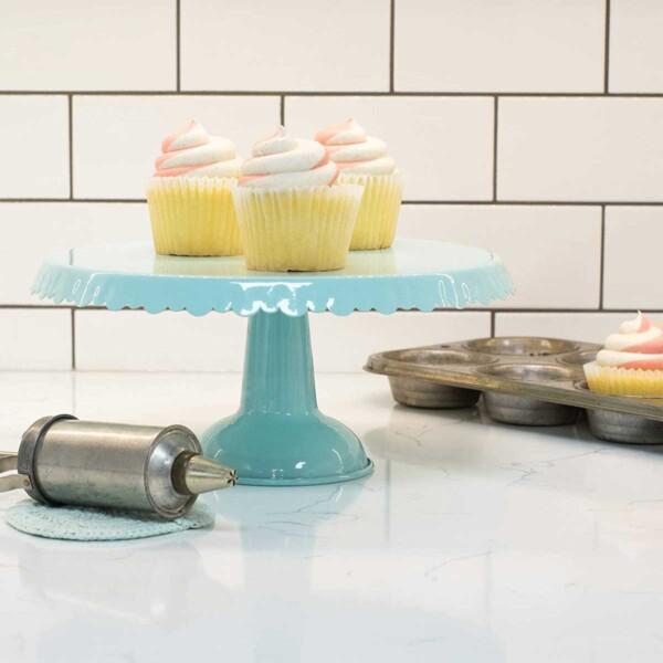 Tin Cake Stand on Counter