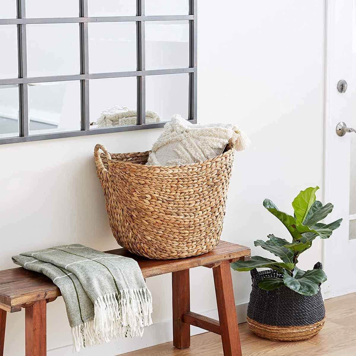 Woven Wicker Basket