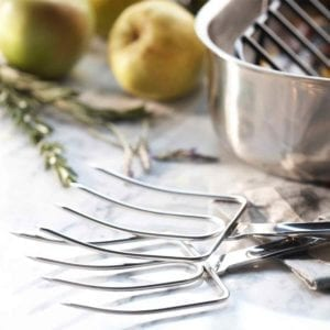 All Clad Turkey Fork Set With Roasting Pan