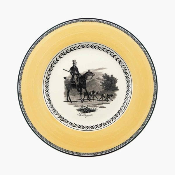 Audun Chasse Dinner Plate on white background.