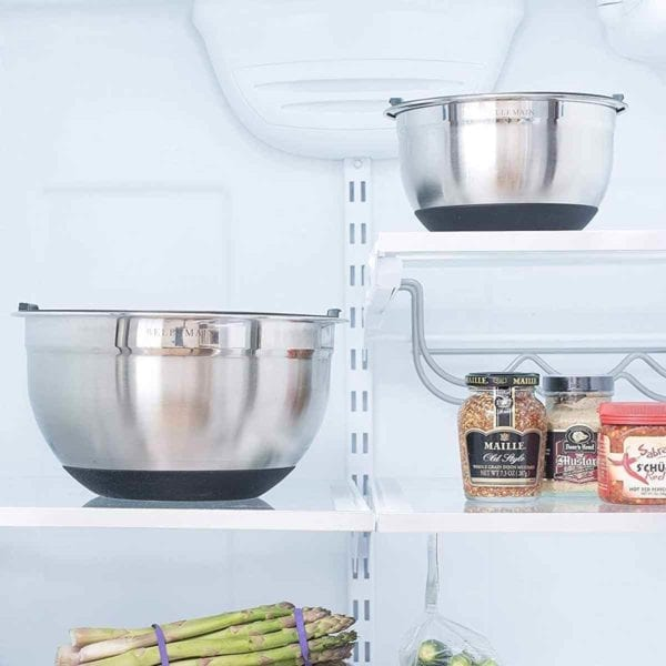 Bellemain Non-Slip Mixing Bowls in fridge.