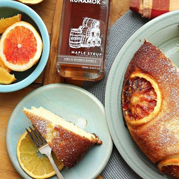 Bourbon Barrel Aged Maple Syrup and Cake
