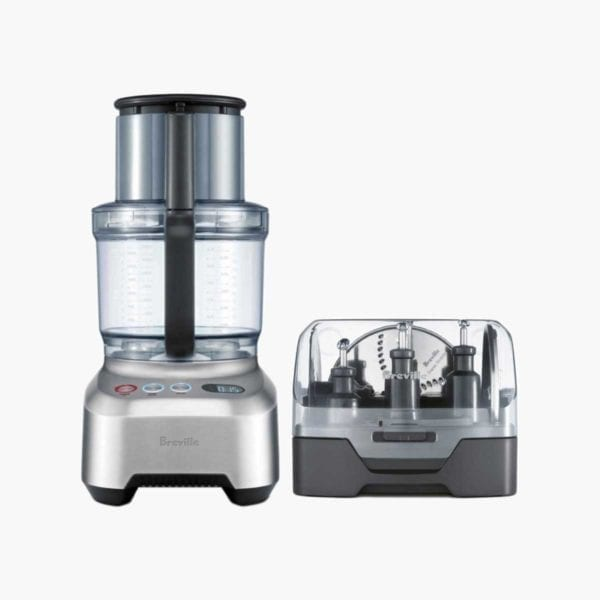 Gray Breville Sous Chef Food Processor with white background.