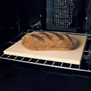 Ceramic Baking Stone with Bread