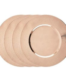 Dutch International Copper Charger Plates