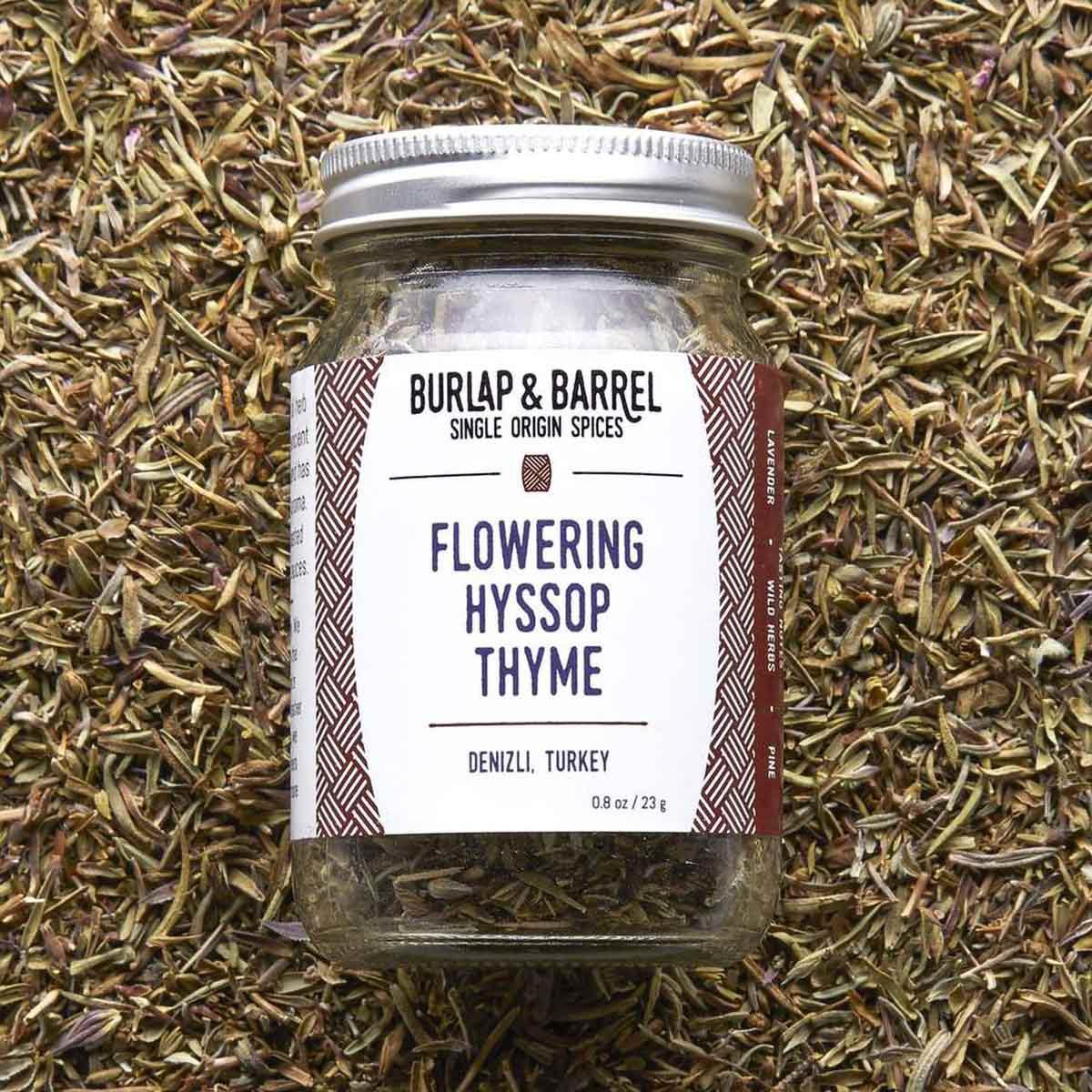 Jar of Flowering Hyssop Thyme.