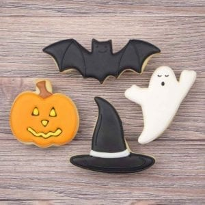 Halloween Cookie Cutter Set Frosted Cookies