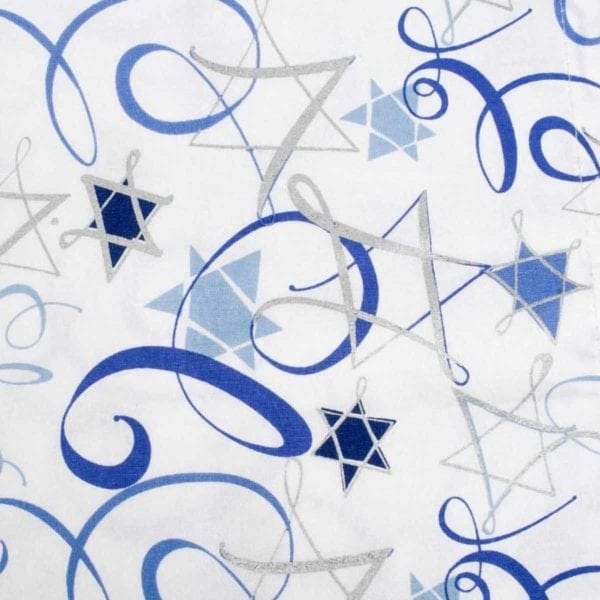 Hanukkah Swirls Printed Napkins close up shot.