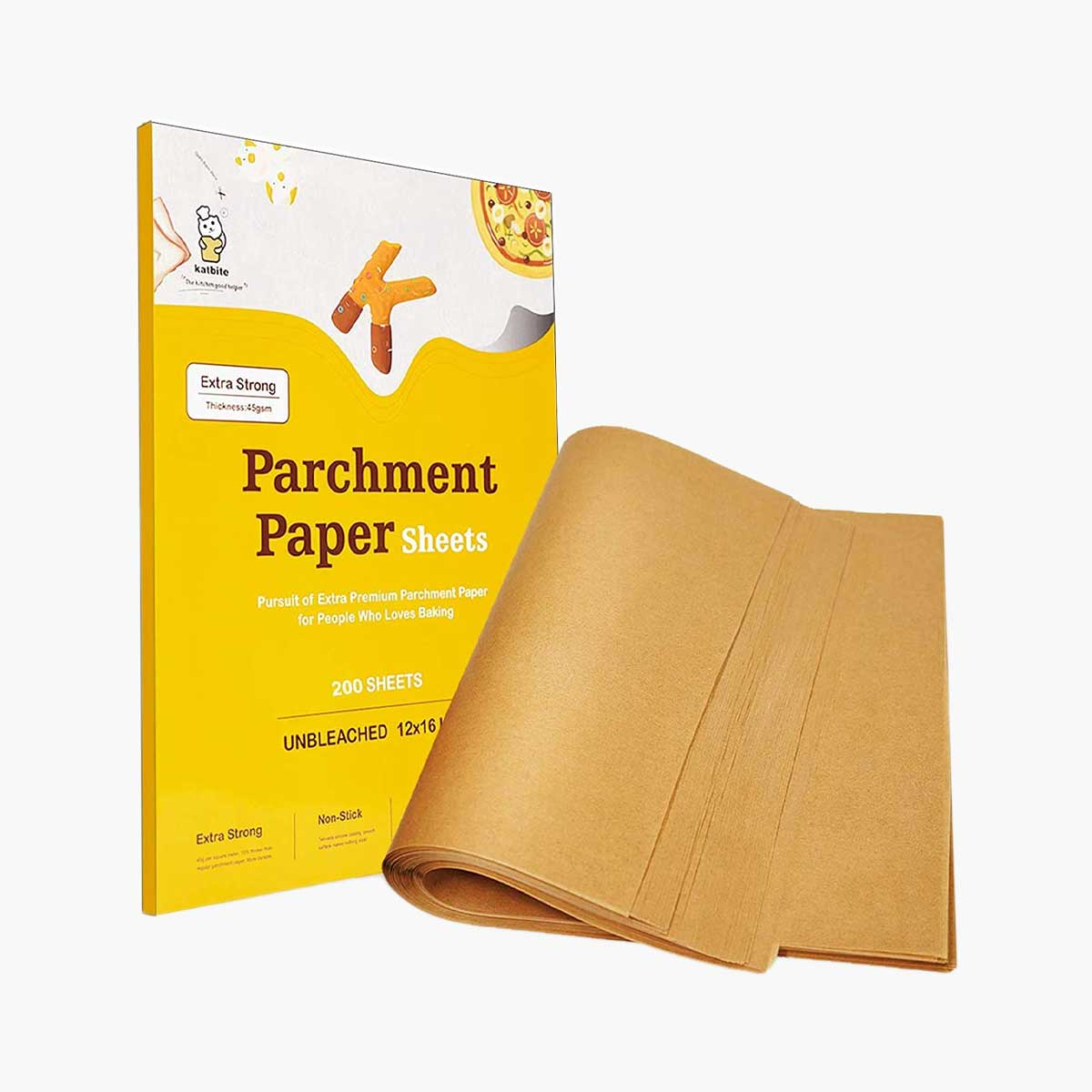 Heavy Duty Unbleached Parchment Paper Sheets