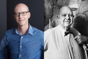 Photographs of James Beard and John Birdsall featured in the podcast Talking With My Mouth Full Ep. 34: An Intimate Look at James Beard with John Birdsall