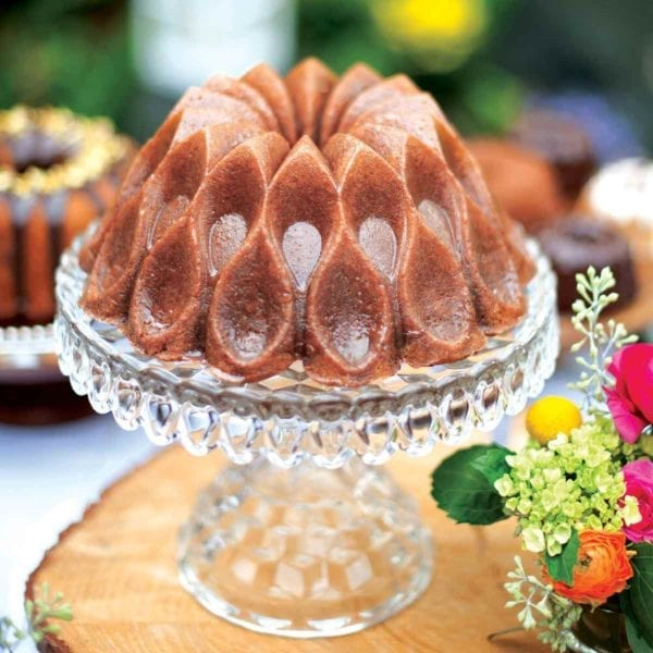 Nordic Ware 70th Anniversary Crown Bundt Pan on Stand
