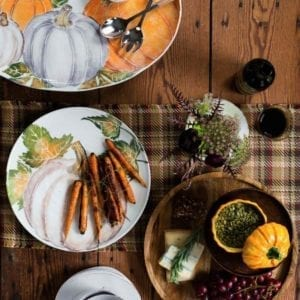 Pumpkin Salad Plates with carrots