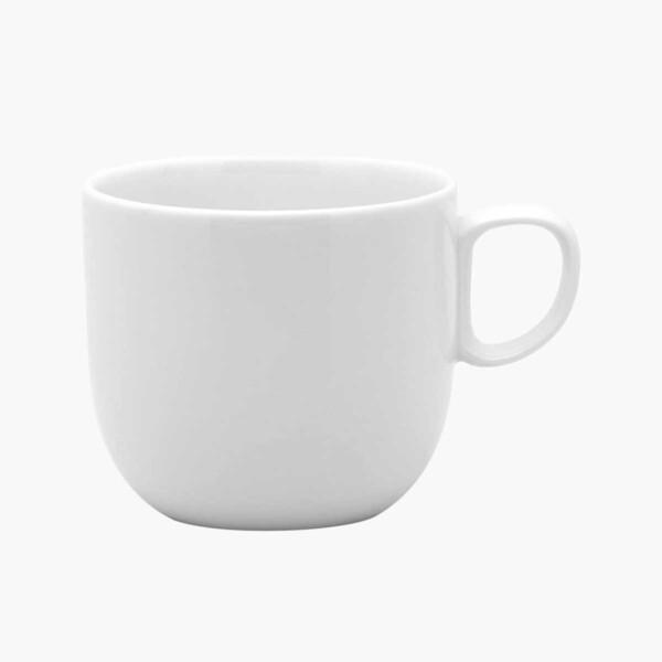 Red Vanilla White Dinnerware mug on white background.